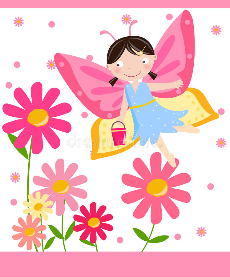 Download Flower fairy stock vector. Image of hair, fairy, design - 11672530