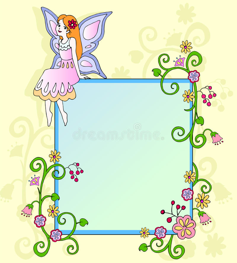 Download Flower fairy stock vector. Illustration of cute, decoration - 18593854