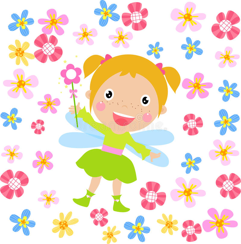 Download Flower fairy stock vector. Image of fantasy, bouquet - 27562496