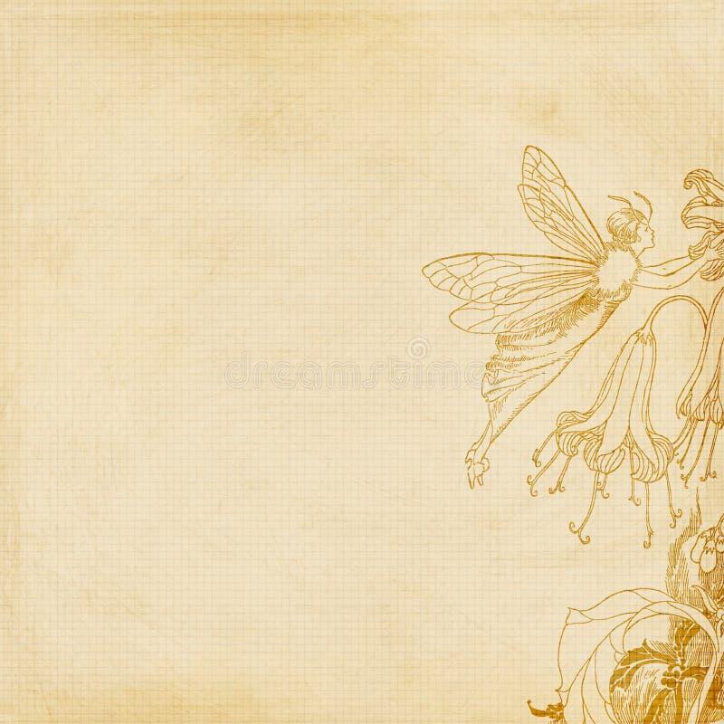 Flower fairy background vector illustration