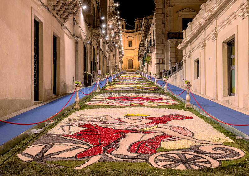 The Flower Festival of Noto in Sicily royalty free stock images