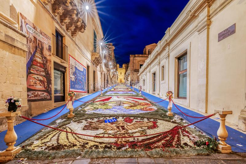 The Flower Festival of Noto in Sicily stock photography