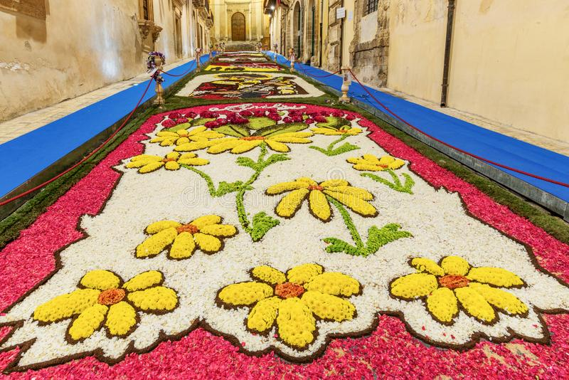 The Flower Festival of Noto in Sicily royalty free stock image