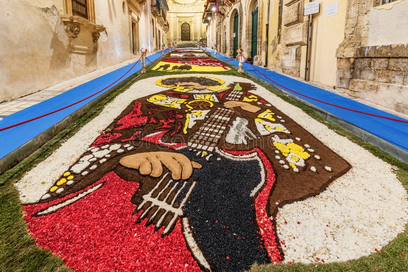 The Flower Festival of Noto in Sicily stock images