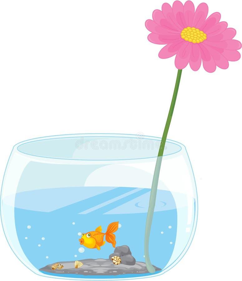Download Flower and fish pond stock illustration. Illustration of pink - 16290330