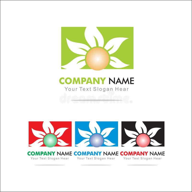 Flower. Logo Design Template vector illustration