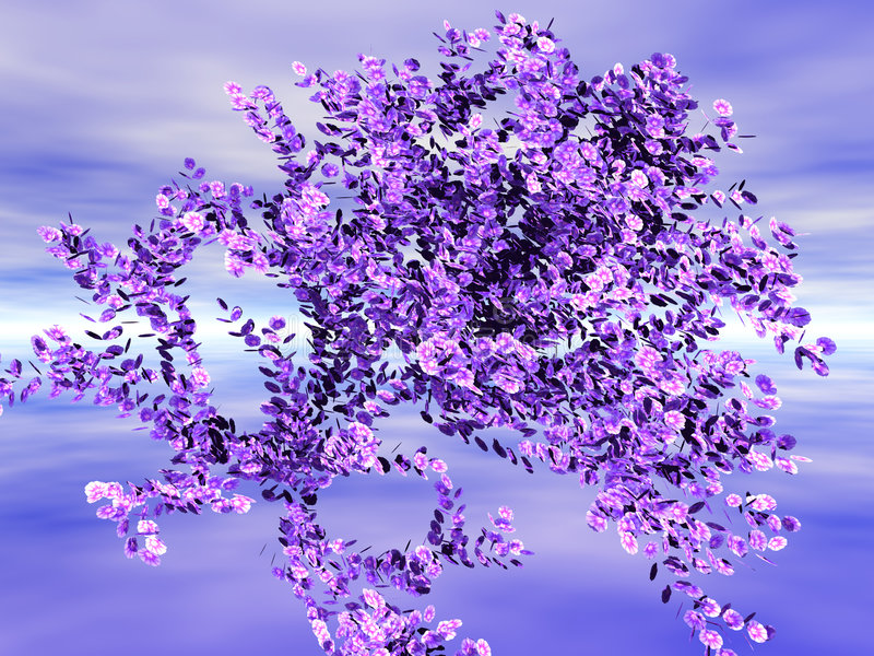 Flower Foliage. In the Horizon royalty free illustration