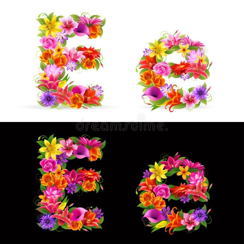 Download Flower font stock vector. Image of garden, rose, bloom - 18099591