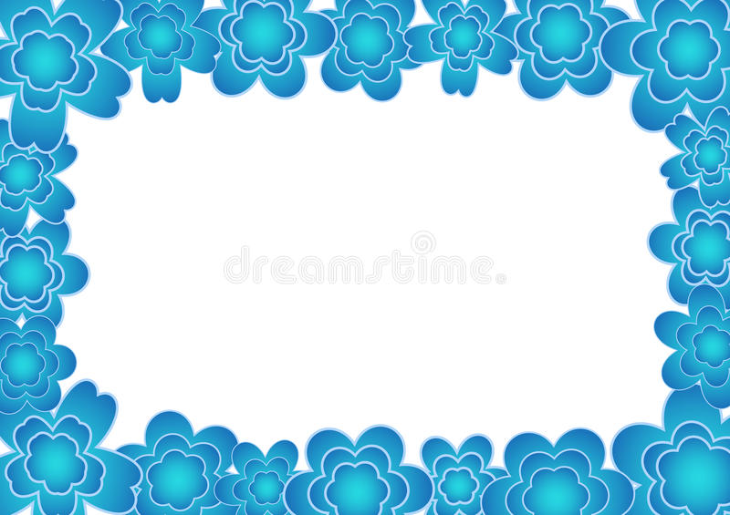 Download Flower frame stock illustration. Image of beauty, ornate - 13491745