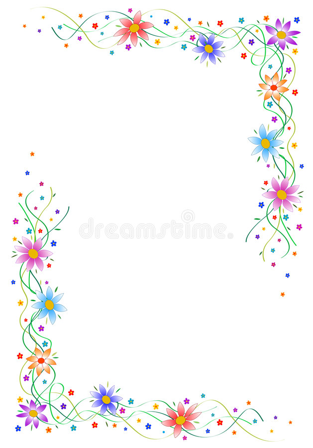 Download Flower Frame Royalty Free Stock Image - Image: 1703586
