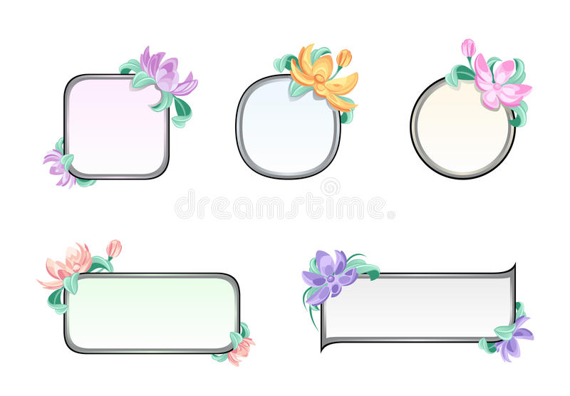 Download Flower frame stock vector. Image of blank, circle, flower - 27463166