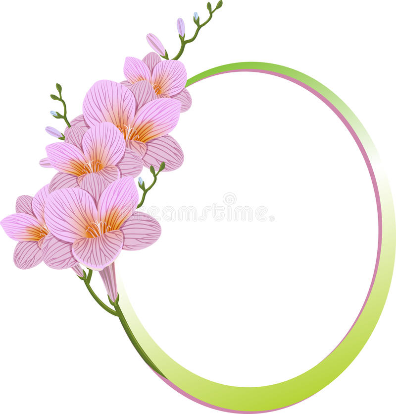 Flower frame. royalty free illustration