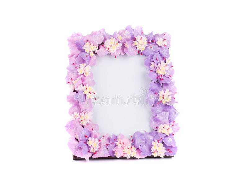Flower Frame For Photo. Stock Photo