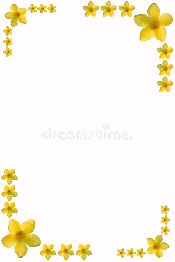 Flower frame with space for text stock images