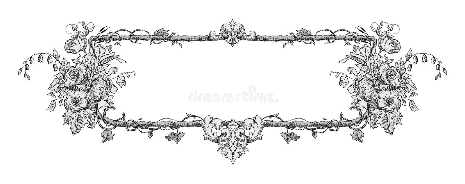 Flower frame vector stock photography