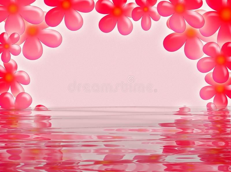 Flower frame in the water royalty free stock image