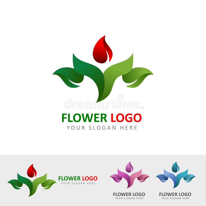 Free Flower Garden Logo Stock Images - 127440534