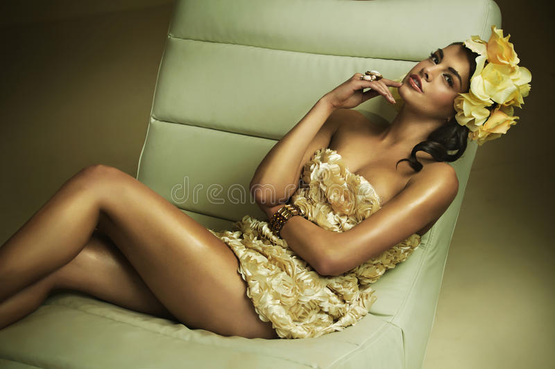 Download Flower Gilr In Sensual Pose Stock Photo - Image: 29784892