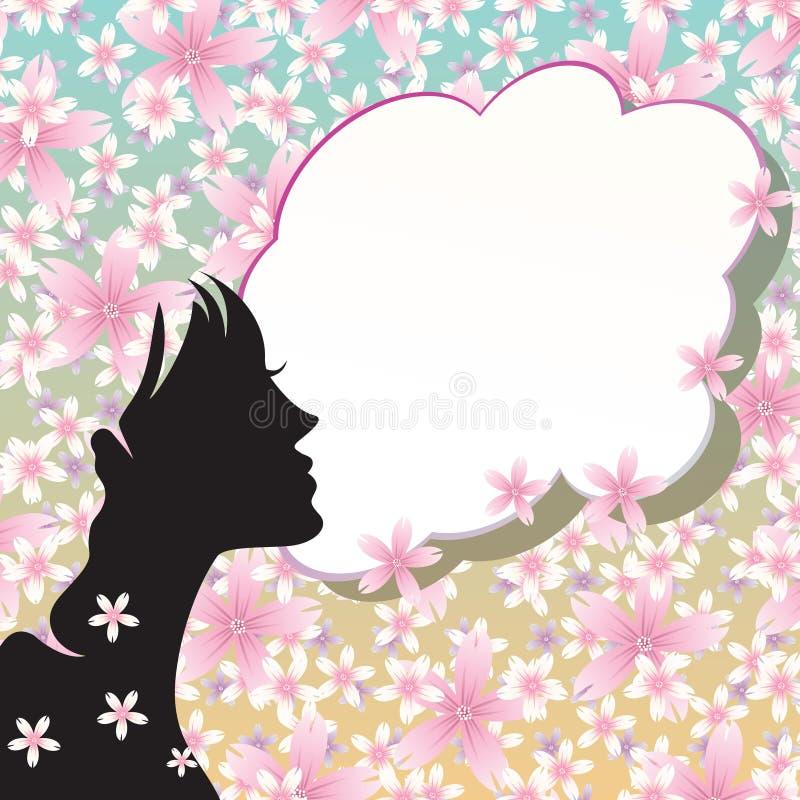 Flower girl royalty free illustration