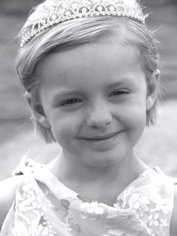 Free Flower Girl Black And White Royalty Free Stock Photography - 179897