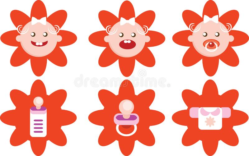 Download Flower Girls Icons Vector Set Stock Illustration - Illustration of engraving, elegance: 17110290