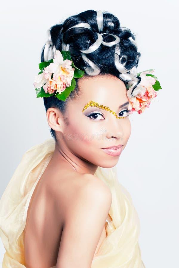 Flower goddess royalty free stock image