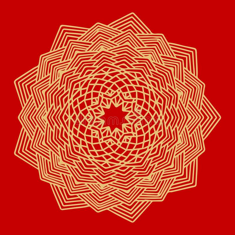 Flower Gold Mandala. Vintage decorative elements. Oriental pattern, vector illustration. Indian ornament. Isolated on a vector illustration