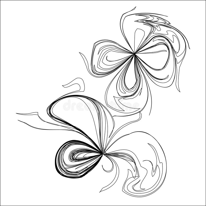 Flower graphic. Black and white flower graphic.Ai file attached vector illustration