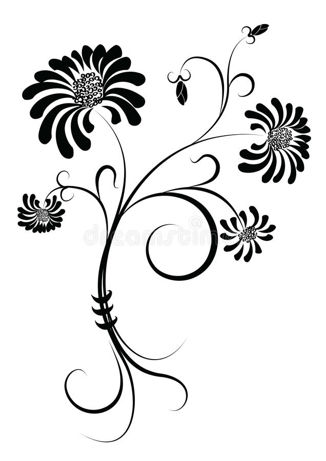 Flower .Graphic image on white royalty free stock photo