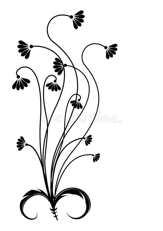 Flower .Graphic image on white royalty free stock images