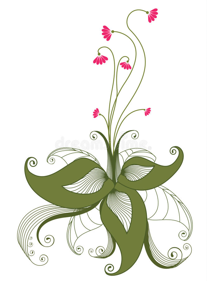 Flower .Graphic image on white royalty free stock photography