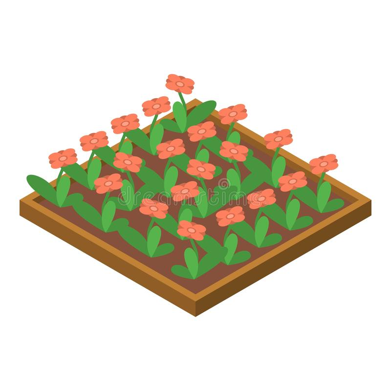 Flower ground part icon, isometric style. Flower ground part icon. Isometric of flower ground part vector icon for web design isolated on white background royalty free illustration