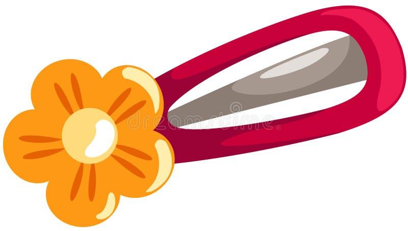 Flower hair clip vector illustration
