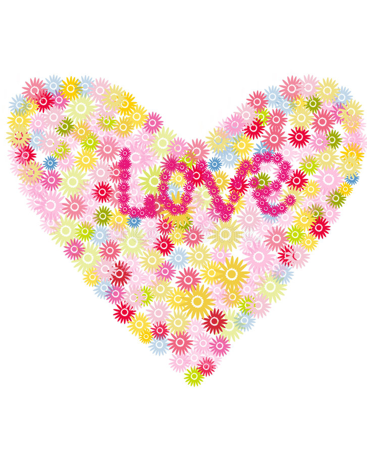 Download Flower Heart stock photo. Image of daub, pink, valentines - 406566