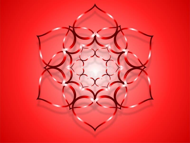 Download Flower heart-red stock illustration. Image of effect - 18361175