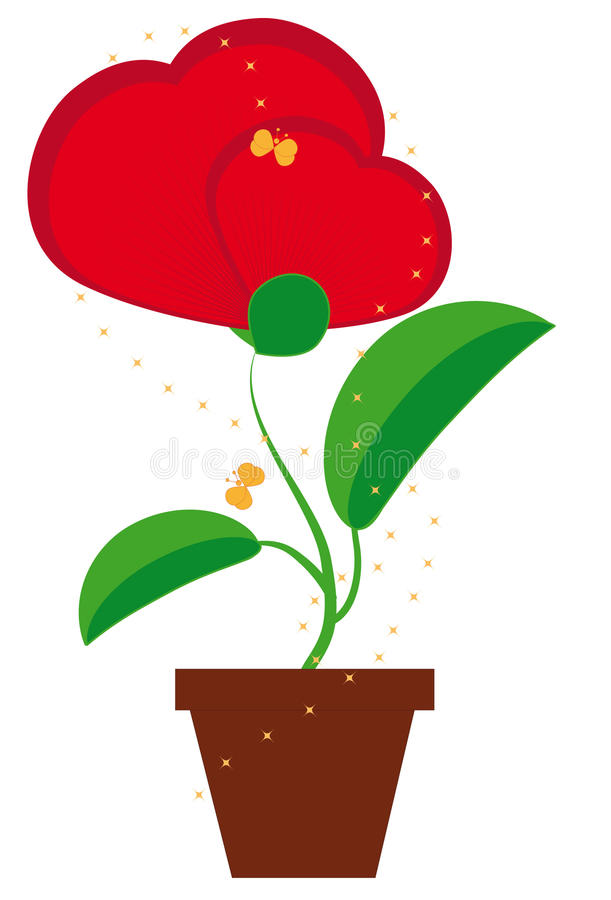 Download Flower in a heart-shaped stock vector. Image of ornament - 12053174