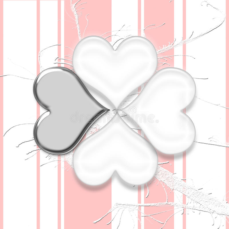 Flower from hearts royalty free stock photos
