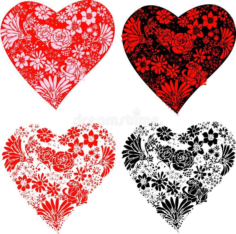 Download Flower Hearts stock illustration. Image of fuchsia, bloom - 12595035
