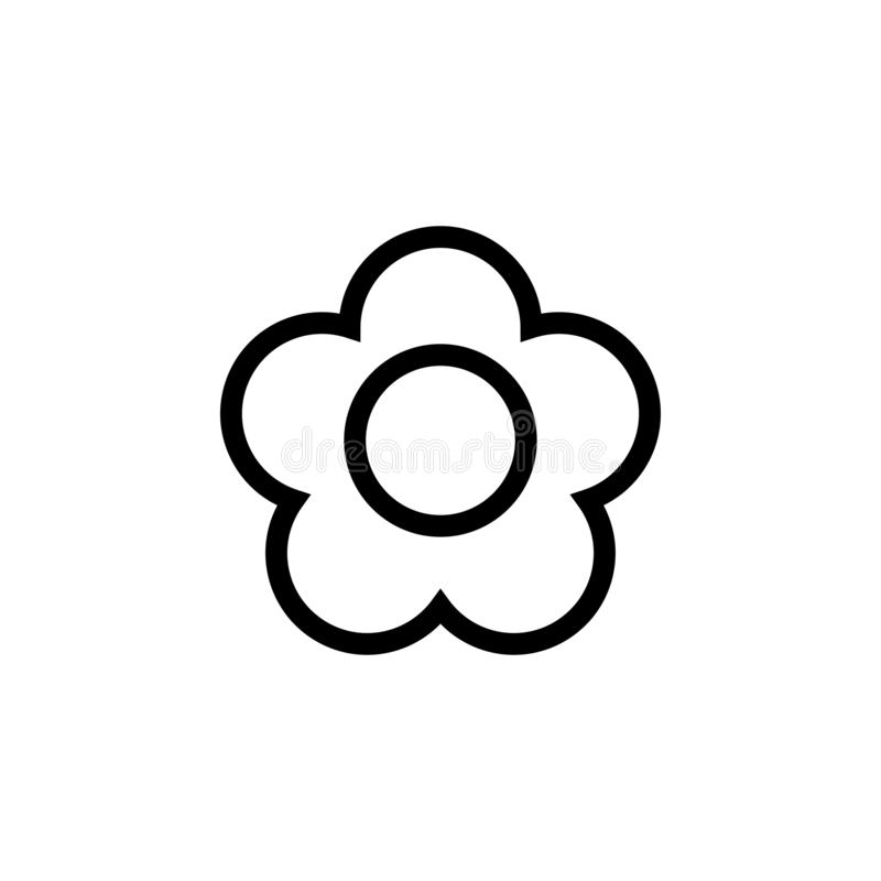 Flower icon design template vector isolated. Illustration royalty free stock image