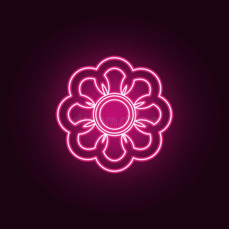 flower icon. Elements of Web in neon style icons. Simple icon for websites, web design, mobile app, info graphics vector illustration