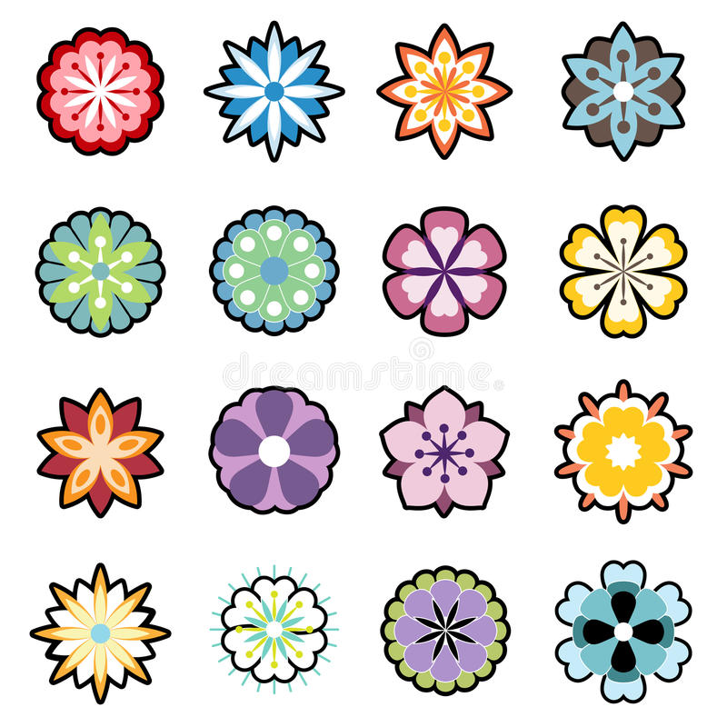 Free Flower Icon Set Royalty Free Stock Photography - 9922587