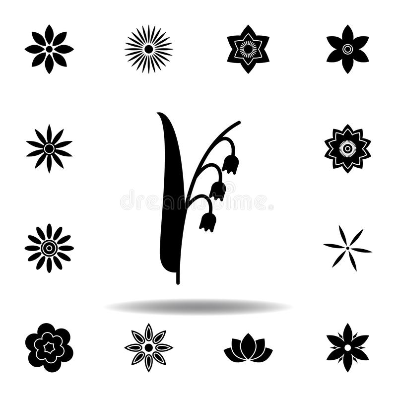 Flower icon in trendy flat style isolated. Set of flowers illustration icons. signs, symbols can be used for web, logo, mobile app vector illustration