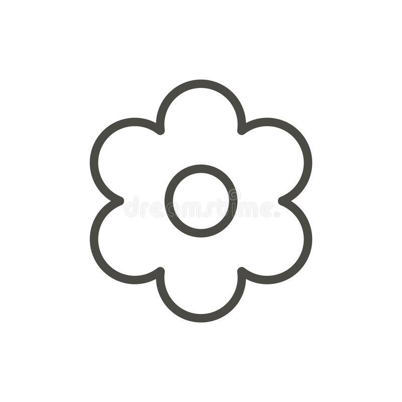 Flower icon vector. Outline floral, line spring symbol. Web icon vector illustration