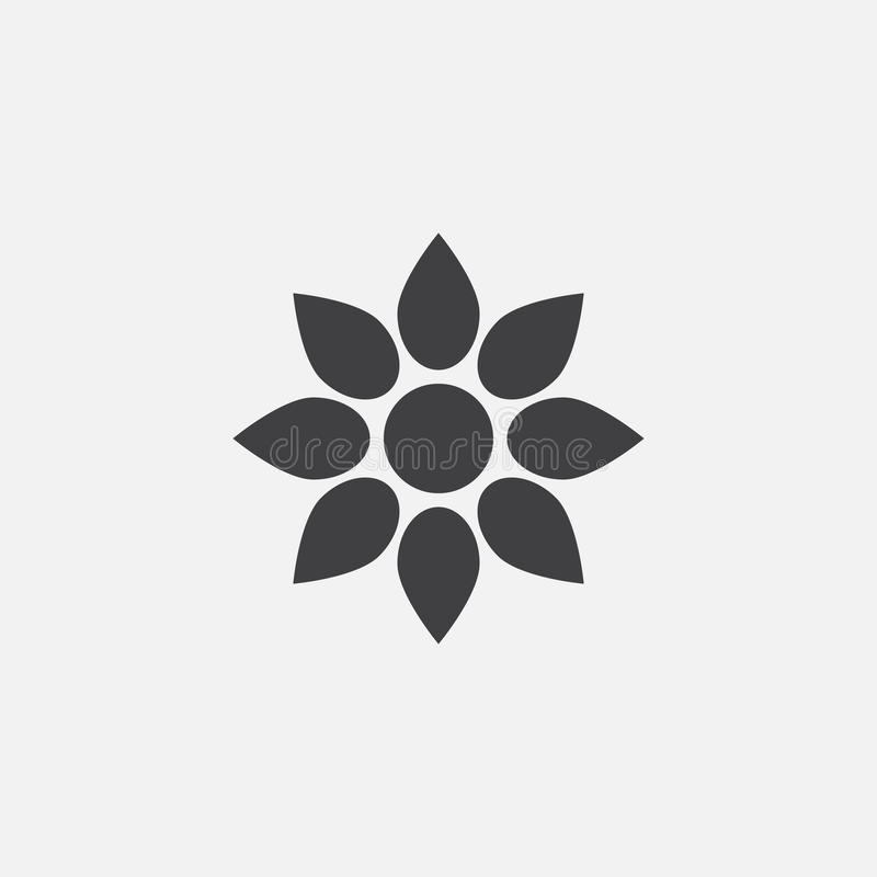 Flower icon vector, solid logo illustration. Pictogram isolated on white royalty free illustration