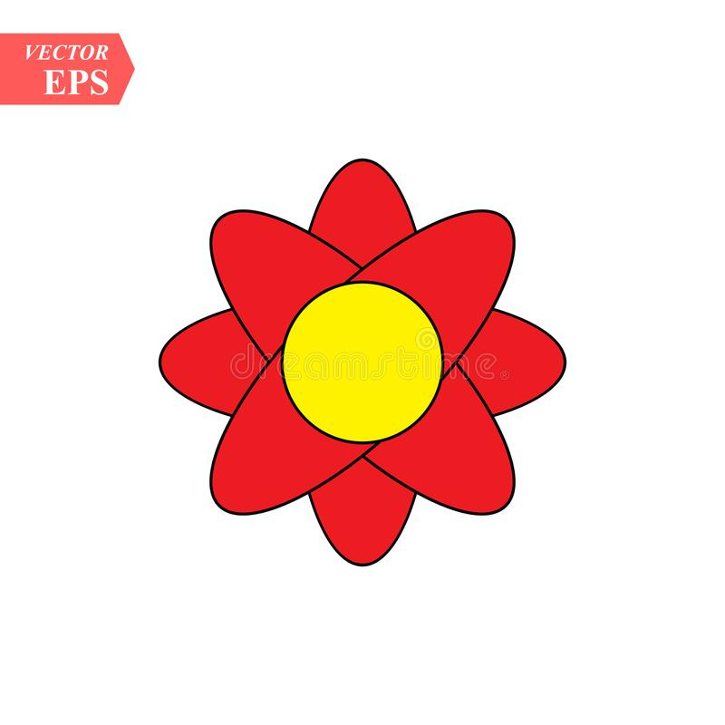Flower icon vector, in trendy flat style isolated on white background. Flower vector illustration royalty free illustration