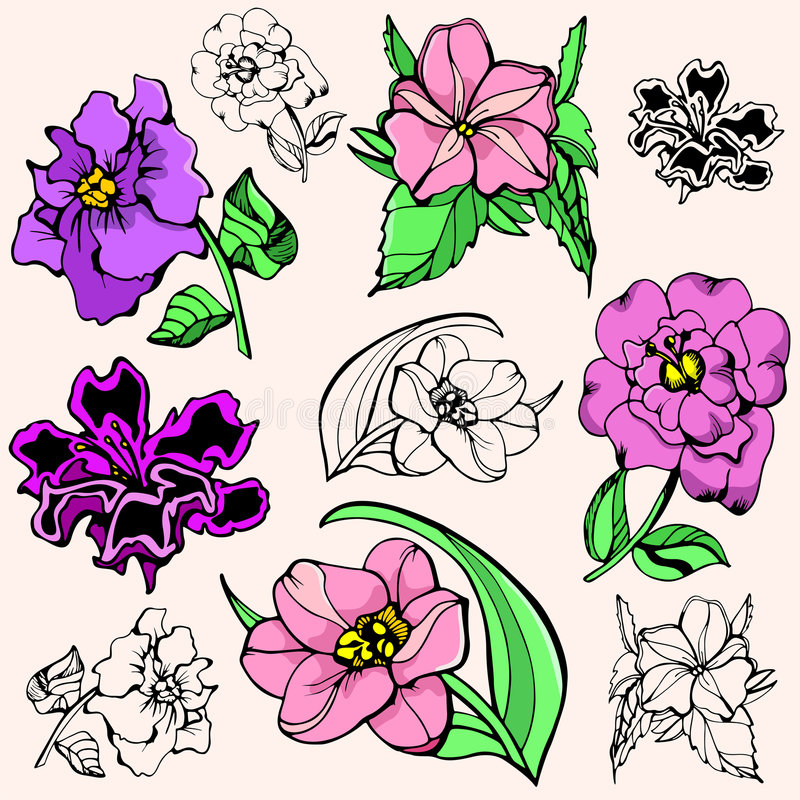 Download Flower illustration series stock vector. Image of drawing - 2746281