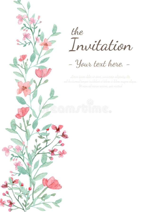 Free Flower Invitation Card Royalty Free Stock Photos - 56970438