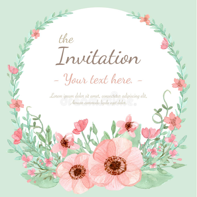 Flower Invitation Card royalty free illustration