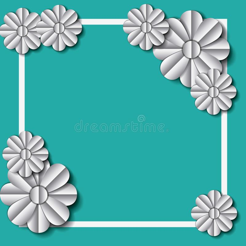 Flower and leafs frame decoration. Vector illustration design vector illustration