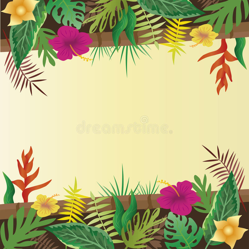 Flower and leaves with copy space background. stock photography